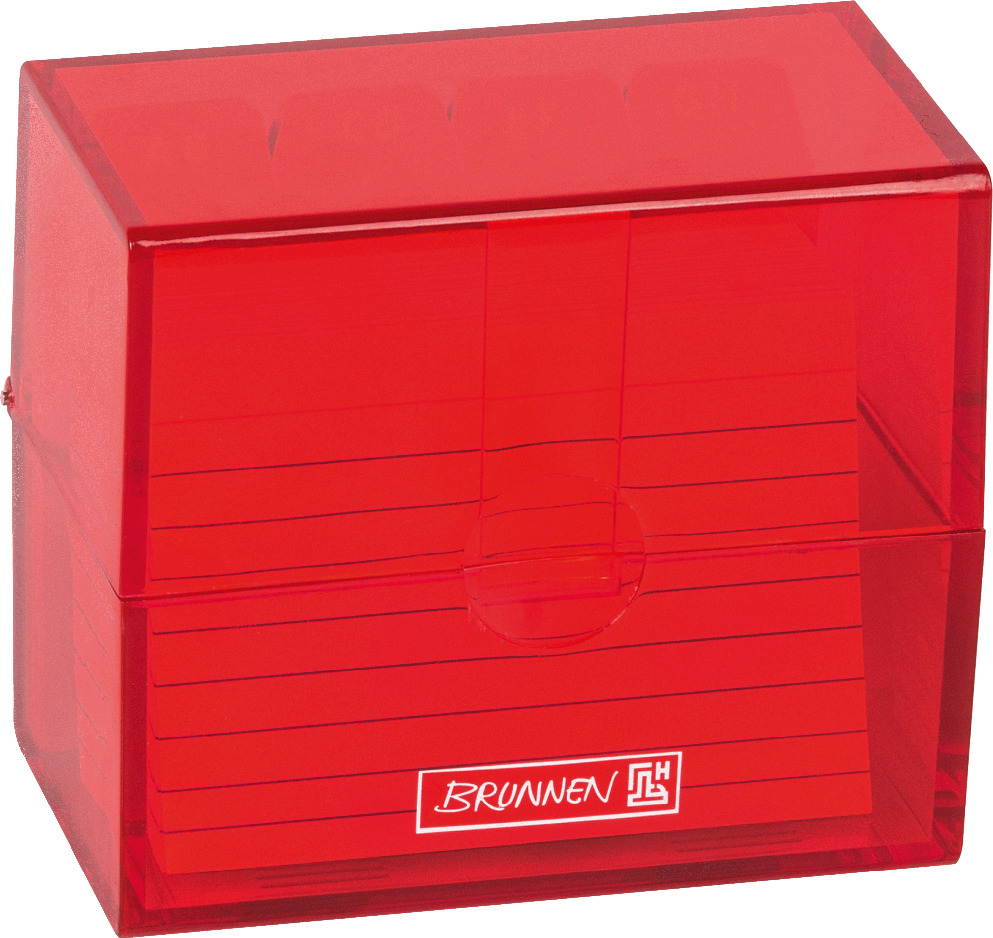 Karteikasten Colour Code 8,5 x 7,5 x 4,8 cm red