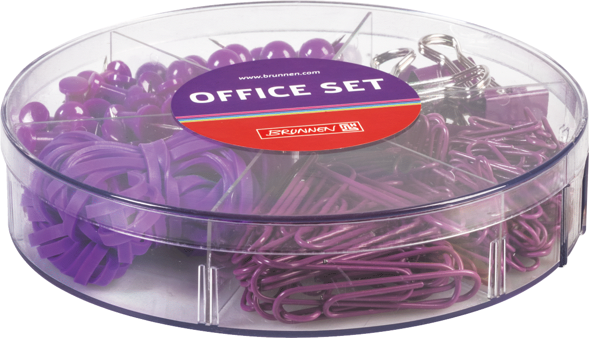 Büro-Set Colour Code Höhe 3 cm Ø 14 cm purple