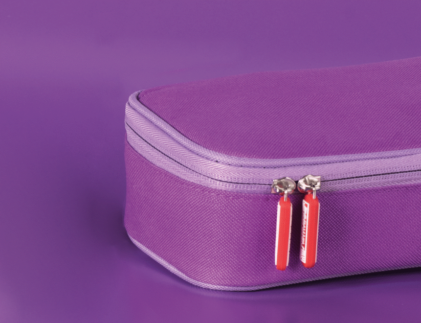 Kombimäppchen Colour Code 22 x 11 x 6 cm purple