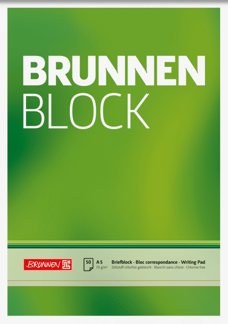"Block ""BRUNNEN-Block"" A5 unliniert"