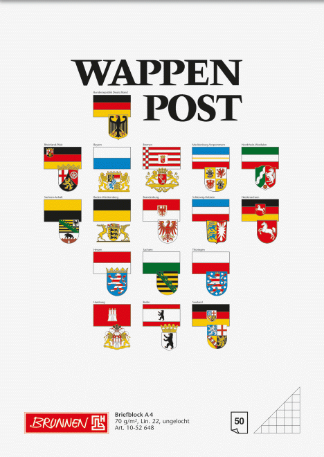 "Block ""Wappen-Post"" A4 kariert"