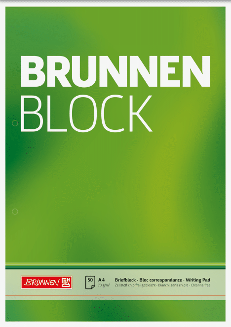 "Block ""BRUNNEN-Block"" A4 unliniert"
